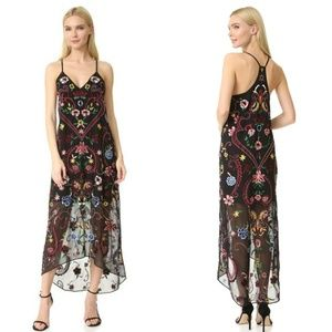 Alice + Olivia Jameson Floral Embroidered Dress